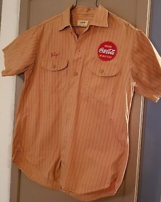 Rare Vintage Coca-Cola Work Shirt Worn By Zip The Coke Guy! - Awesome!