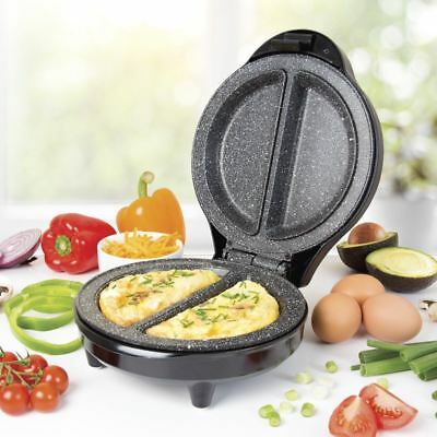 700W Electric Omelette Maker Machine Non Stick Marbled Breakfast Egg Frying Pan