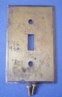 Vintage Solid Brass BRYANT Single Toggle Switch Wall Light Switch Plate