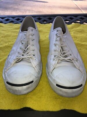 d24d2c50abc5 CONVERSE JACK PURCELL mens athletic shoes White Leather Size 11.5 Us ...