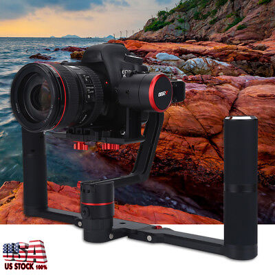 Feiyu 3Axis AntiShake Gimbal Dual Handheld Stabilizer for DSLR Camera Camcorder