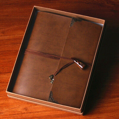 Leather Photo Album Vintage Scrapbook Retro Memory Book Diary Gift Memory Love