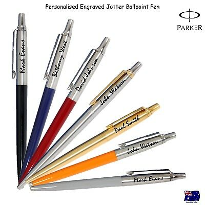 Personalised Engraved Genuine Parker Jotter Ballpoint Ball pen - Free Gift Box