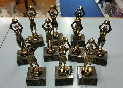 10 x New Netball Trophies Discontinued Range. Other Quantities also available