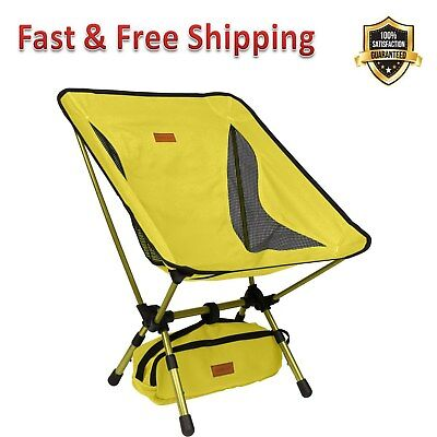 Admirable Yellow Portable Camping Chair With Adjustable Height Compact Evergreenethics Interior Chair Design Evergreenethicsorg