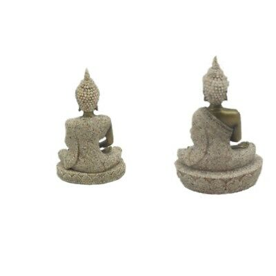 Sitting Meditating Buddha and Buddha Statue with Sandstone Robe Decoration