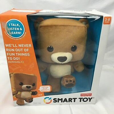 NIP Fisher Price Interactive Brown Bear Smart Toy Ages 3-8, Talk Listen Learn