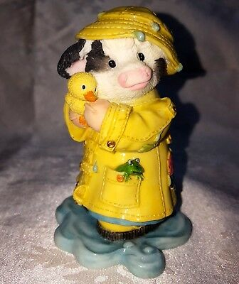 """Mary's Moo Moos APRIL """"I'm So Lucky You're My Ducky"""" Rain 1996 Cow Duck Frog"""