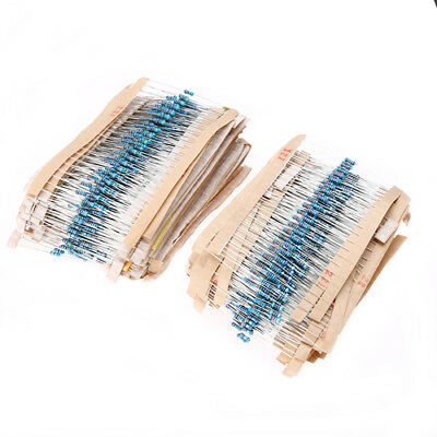 2600pcs 130 Values 1/4W ±1% Metal Film Resistors Assortment Kit Set 1Ω - 910KΩ