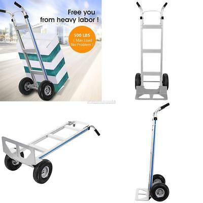 New Aluminum Dolly Hand Truck with Large Capacity 500/110 lbs Heavy Duty Truck