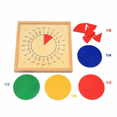 Circular Mathematics Fraction Division Teaching Aids Montessori Math Toys Baby