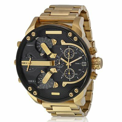 Business Men's Large Face Watch Stainless Steel Sport Analog Quartz Wristwatches
