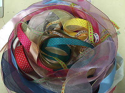 Fine Assorted Bundle Ribbon 10M 20M 50M 100M Cuts Off Craft Cards Gifts Wedding