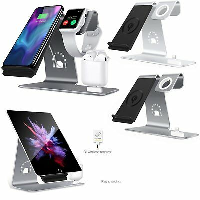 3in1 Qi Wireless Charging Dock Stand para iphone X 8/8 Plus Apple Watch, Airpods