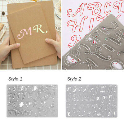 Silver Alphabet Metal Cutting Dies A-Z Letters Die Cuts Paper Craft Embossing