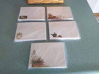 Longaberger Basket Envelopes set of 5 pkgs. Assorted styles NEW unopened
