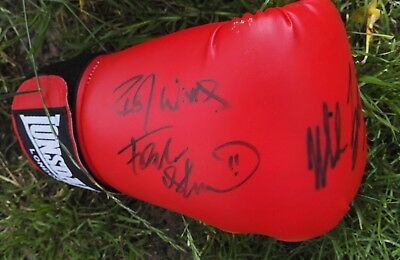 Signed Boxing Glove.. Mike Tyson (Usa) & Frank Bruno (Gb) - Legends Of Boxing