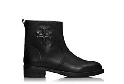 dfb8ca74caf9 BRAND NEW TORY Burch Womens 7M Black Leather Ankle Moto Boots ...