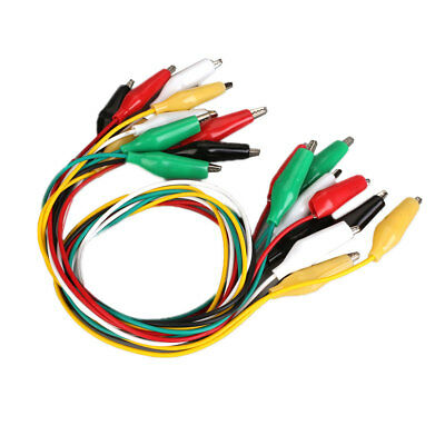 10pcs Double-Ended Test Lead Alligator Clamps Crocodile Clip Jumper Wire Cable S