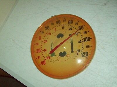 vintage thermometer Amish decor PA Dutch RARE find made in British Hong Kong