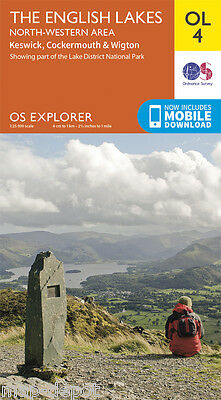 THE ENGLISH LAKES (North Western Area) EXPLORER Map - OL4 - Ordnance Survey - OS