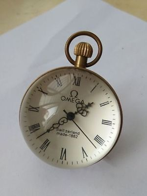 2.0 inch / Works CHINESE vintage BRASS GLASS pocket watch BALL clock