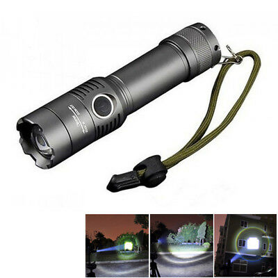 5000LM CREE XM-L T6 3 mode LED Tactical Flashlight Zoom Rechargeable Torch Lamp