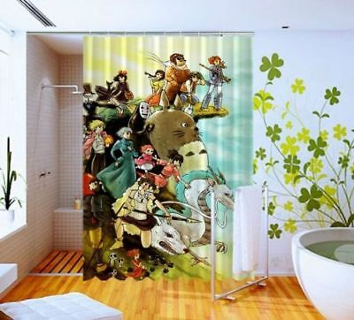 New Studio Ghibli Characters Disney Shower Curtain Size 60x72 Inch One Side