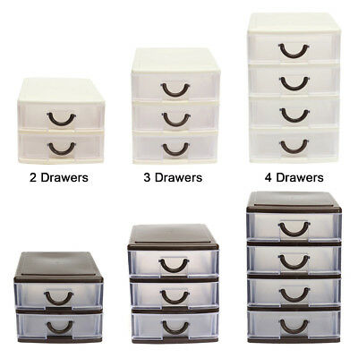 UK Plastic Drawer Small Tower Storage Unit Office Cosmetic School Home Organise  sc 1 st  PicClick UK & UK PLASTIC DRAWER Small Tower Storage Unit Office Cosmetic School ...