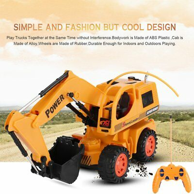Remote Control Excavator RC Construction Tractor Vehicle Truck Toy Digger CarZ L