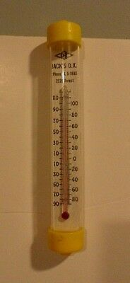 Jacks' D.X. gas station advertising outdoor thermometer Des Moines Iowa vintage