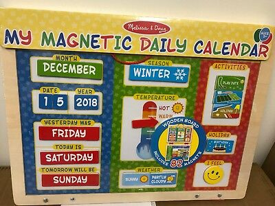 Melissa And Doug My First Daily Magnetic Calendar 16 16 Picclick Uk