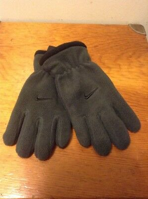 Nike Gloves Boy's Youth 8-20 Gray/Black Anthracite New NWT