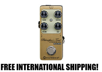 Pigtronix Philosopher's Tone Germanium Gold Micro Compressor FREE INTL SHIPPING