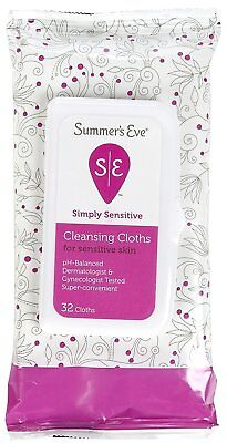 SUMMER'S EVE Cleansing Cloths for Sensitive Skin-32 ct