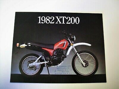 YAMAHA XT200J Dealer promo sales brochure/Sales literature  (NOS-not a reprint)