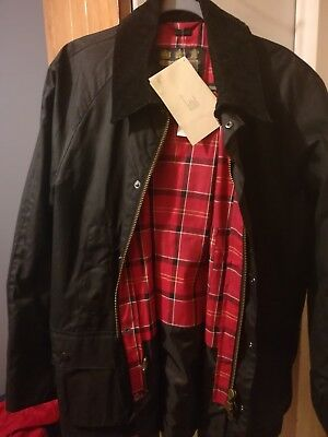 Men's Barbour Ashby Waxed Cotton Jacket Size XXL NWT