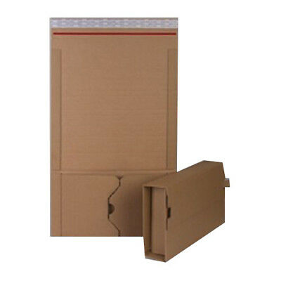 100 A5+ Manilla Book Wrap Mailing Envelopes E Flute 251mm x 165mm x 80mm 400gsm