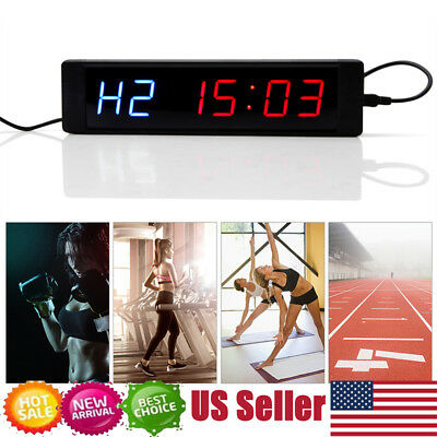 Crossfit LED Interval Timer Training Garage Workout MMA Boxing Tabata w/Remote