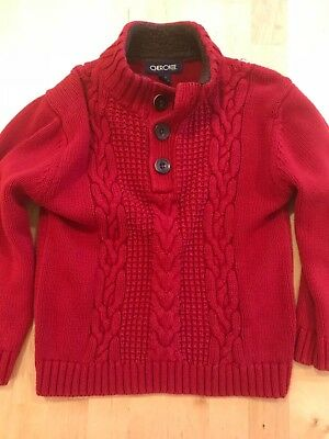 Cherokee boys red sweater size 5T preowned