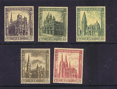 San Marino 1967 Gothic Cathedrals set unmounted mint MH MNH