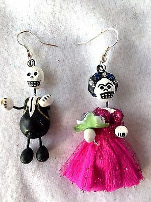 Frida And Diego  Skeleton  Earrings - Day Of The Dead Jewelry - Mexico