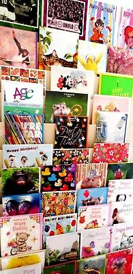12p! AMAZING OFFER! 600 SUPERB GENERAL CARDS-WRAPPED-FOILED ETC.100 DESIGNS x 6
