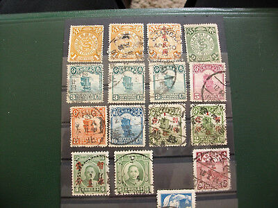 Briefmarken Asien China Lot gestempelter Marken