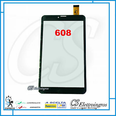 TouchScreen per Majestic TAB 608 VETRO Tablet Digitizer 8.0 Nero
