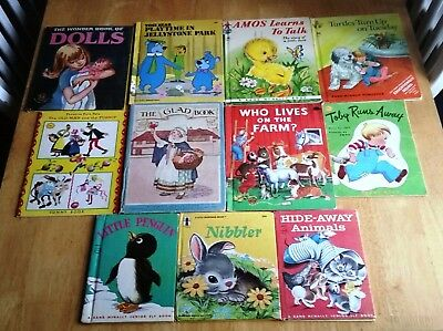 LOT of 11 CHILDRENS Rand McNally SUNNY Wonder ARTIST & WRITERS GUILD Elf BOOKS