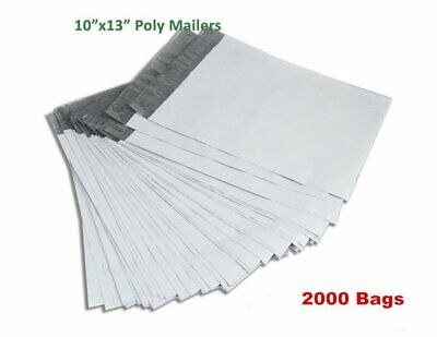 2000 10x13 Self Sealing Poly Mailers Shipping Envelopes Plastic Bags 2.5 Mil