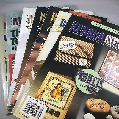 Lot of 7 The Rubber Stamper Magazine 1998,1999,2000,2001,2002