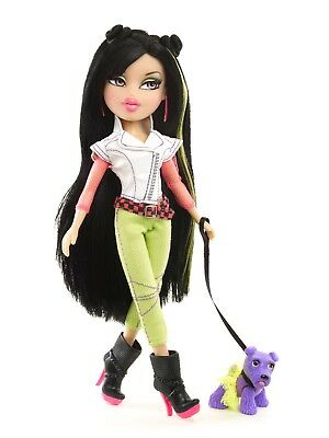"Bratz Neon Runway Jade Doll 9"" & Mimi Midnight Pet Dog 6+ NEW"