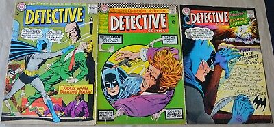 Lot Of 3 Detective Comics (Dc, 1965-67) #335, #352, #366  Silver Age!
